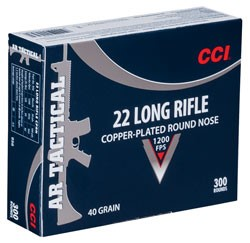 CCI AMMO Ammunition 22LR AR TACTICAL