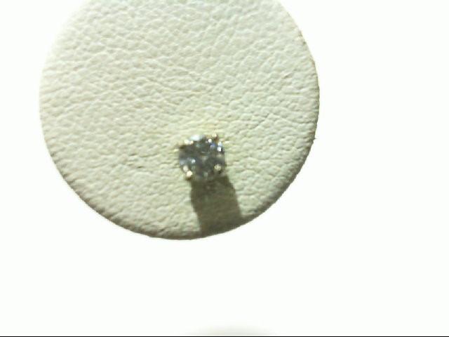Gold-Diamond Earrings 2 Diamonds .30 Carat T.W. 14K White Gold 0.4g