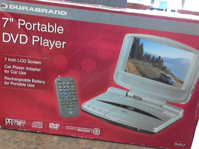 DURABRAND Portable DVD Player DUR-7 PORTABLE DVD PLAYER