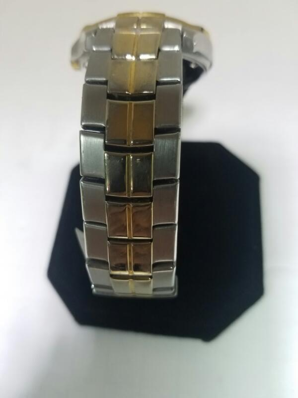 FOSSIL ES-1967 GOLD/SILVER WATCH PLATED   31.6KWMS #30 WATCH,.01 RND CLR STN