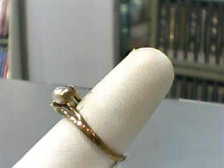 Pearl Lady's Stone Ring 10K Yellow Gold 1.5dwt Size:7