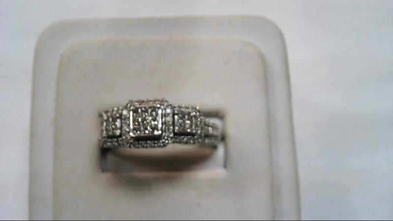 Lady's Diamond Fashion Ring 62 Diamonds .79 Carat T.W. 10K White Gold 5.2g