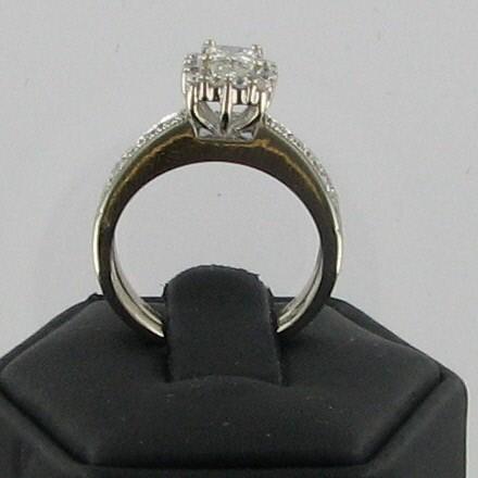 Lady's Diamond Wedding Set 35 Diamonds 1.69 Carat T.W. 14K White Gold 3.9dwt