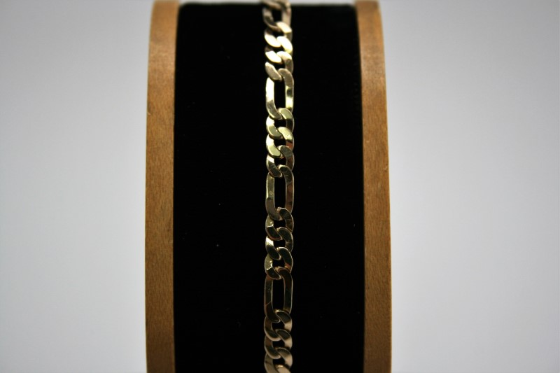 FIGARO STYLE BRACELET 14K YELLOW GOLD