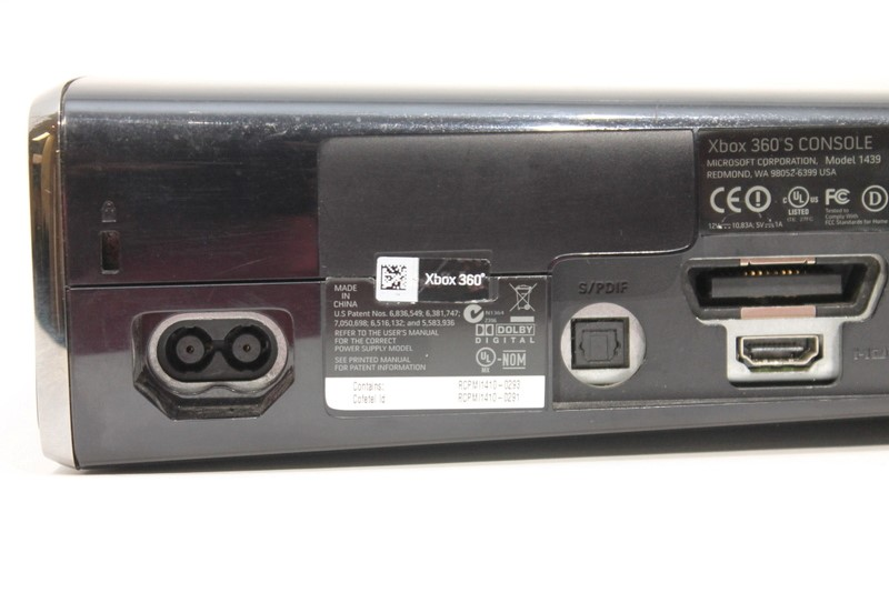 Microsoft Xbox 360 S Model 1439 Video Game Console 250GB HDD Black>