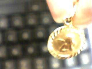Gold Charm 14K Yellow Gold 0.7dwt