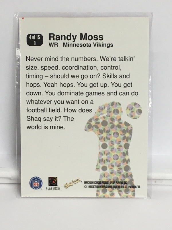 SKYBOX  RANDY MOSS D'STROYERS 4 OF 15