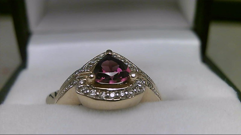 rhodilite Garnet Lady's Stone & Diamond Ring 22 Diamonds .22 Carat T.W.