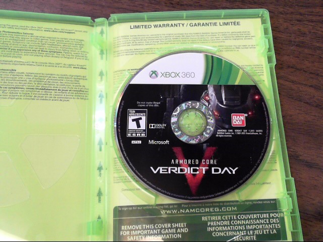 MICROSOFT Microsoft XBOX 360 Game ARMORED CORE VERDICT DAY