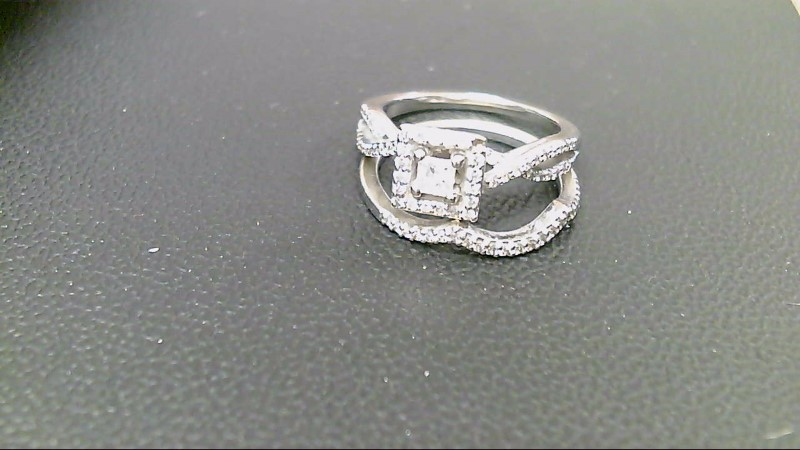 Lady's Diamond Wedding Set 77 Diamonds .96 Carat T.W. 14K White Gold 6.1g