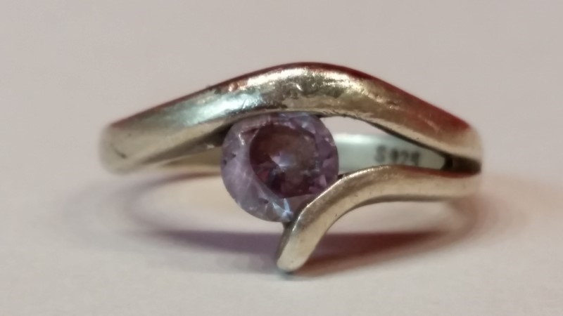 Lady's Silver Ring 925 Silver 3.7g Size:7