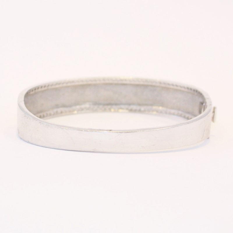 """8"""" STERLING SILVER (925) BRACELET W/GOLD ACCENTS,"""