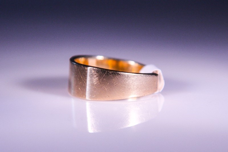 Gent's Diamond Fashion Ring 3 Diamonds .03 Carat T.W. 14K Yellow Gold 7.2g