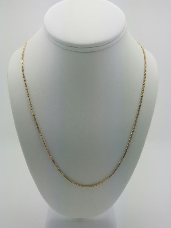 """24"""" M'S 14KT Gold Fashion Chain CURB LINK 14K Yellow Gold 5.4dwt"""