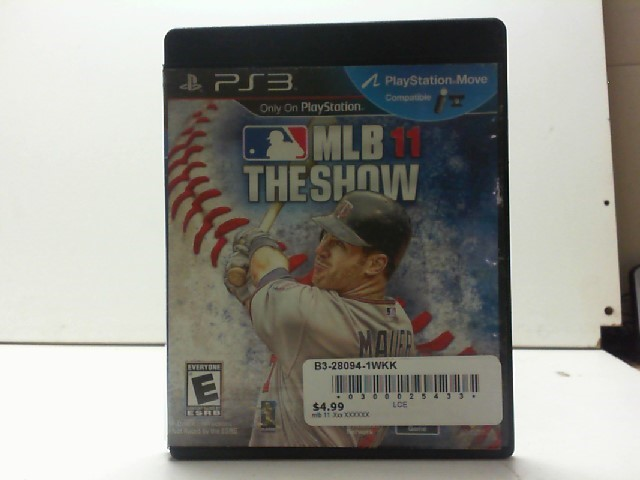 SONY Sony PlayStation 3 Game MLB 11 THE SHOW PS3