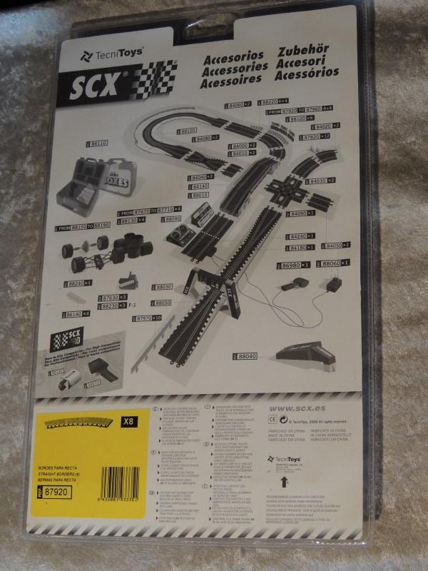NIB SCX TecniToys slot car Border Set 8pc 87920