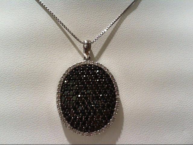 Gold-Multi-Diamond Pendant 178 Diamonds 2.96 Carat T.W. 14K White Gold 7.3g