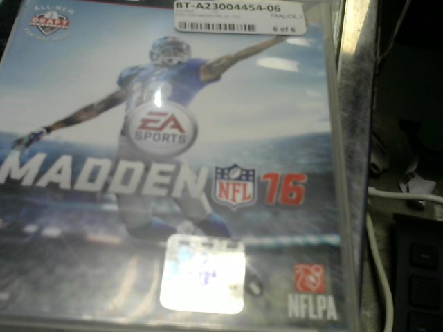 SONY Sony PlayStation 3 Game MADDEN NFL 16 - PS3