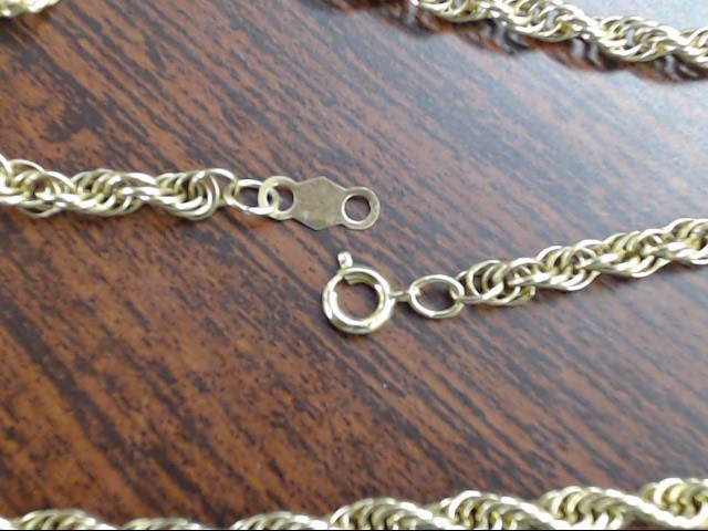"""CLASSIC SPEIDEL TWIST ROPE NECKLACE CHAIN REAL 14K GOLD 11.5g 24"""""""