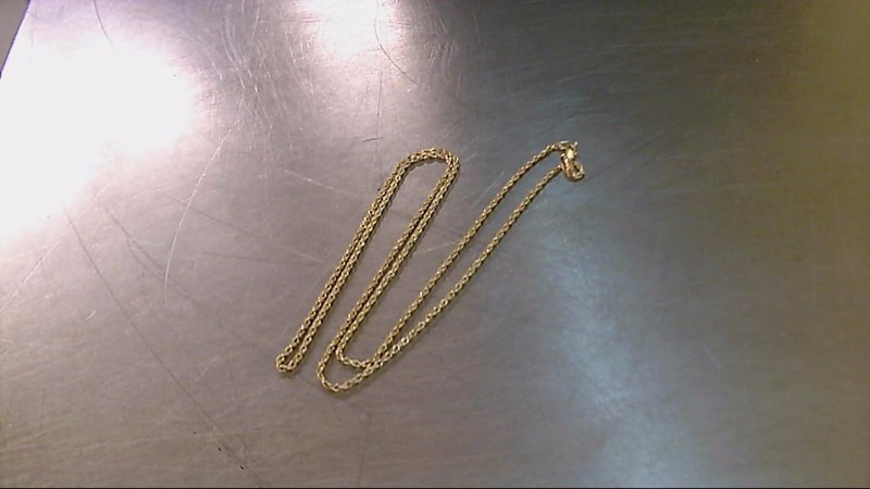 "24"" Gold Rope Chain 10K Yellow Gold 4.8g"