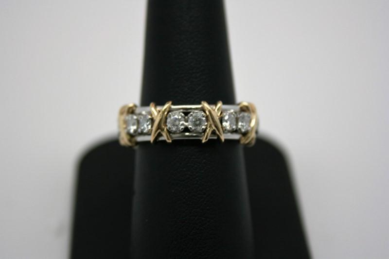 LADY'S DIAMOND ETERNITY BAND 2TONE PLATINUM