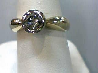 Lady's Diamond Engagement Ring .65 CT. 14K 2 Tone Gold 4.5dwt Size:6.5