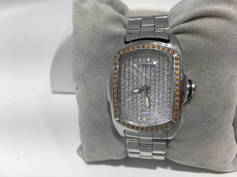 Ladies Invicta Baby Lupah 2683 Diamond Stainless Watch AS IS