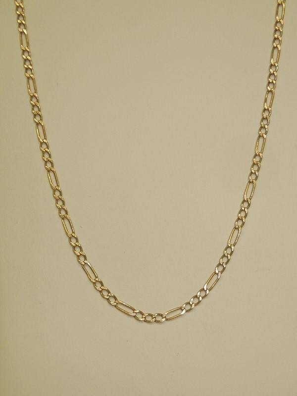 "16"" Gold Figaro Chain 14K Yellow Gold 3.9g"