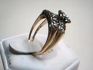 Lady's Diamond Wedding Set 10 Diamonds 1.00 Carat T.W. 14K Yellow Gold 5.7g