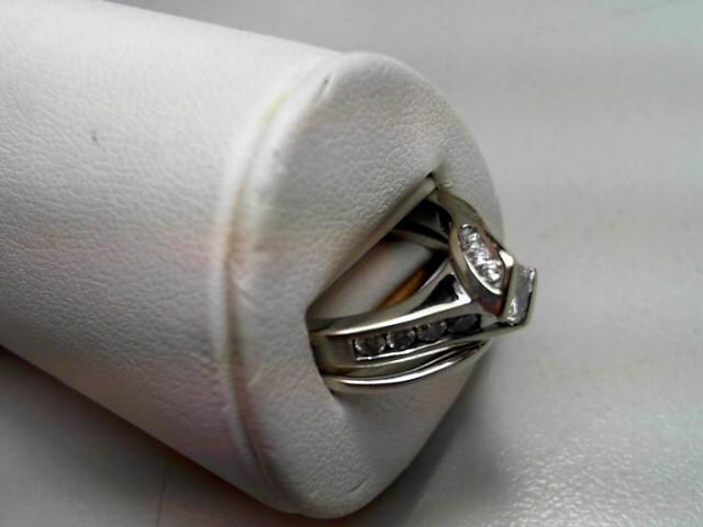 Lady's Diamond Wedding Set 8 Diamonds .85 Carat T.W. 14K White Gold 7.6g Size:7