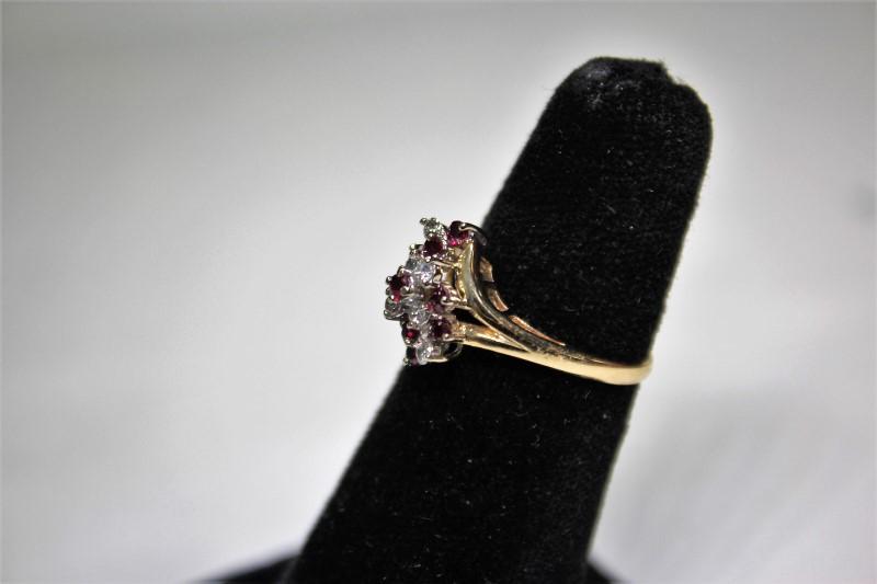 Lady's Ruby & Diamond Ring 6 Diamonds .18 Carat T.W.