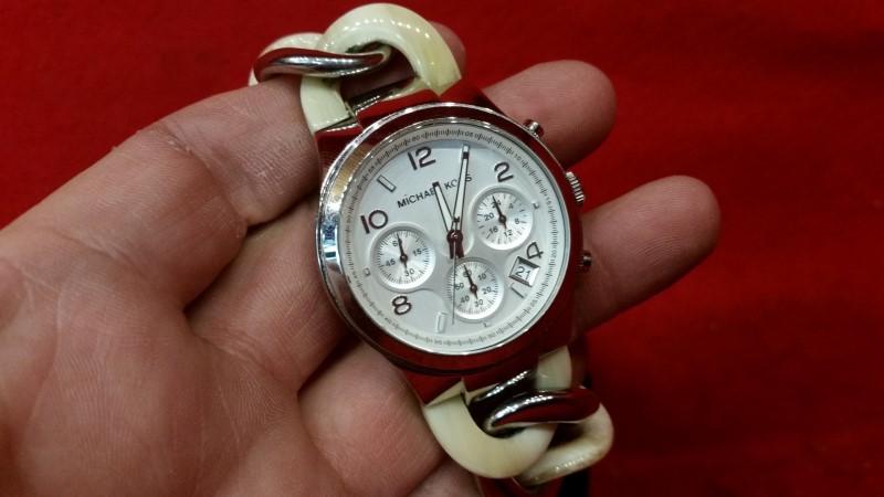 Michael Kors Women's Runway Alabaster Twist Chain Link Watch MK4263