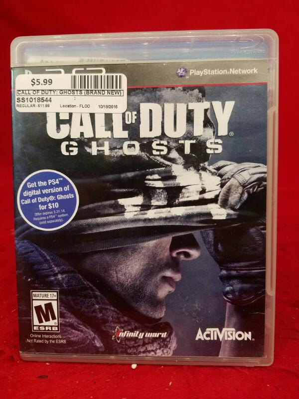 Call of Duty: Ghosts (Brand New)(Sony PlayStation 3, 2013)