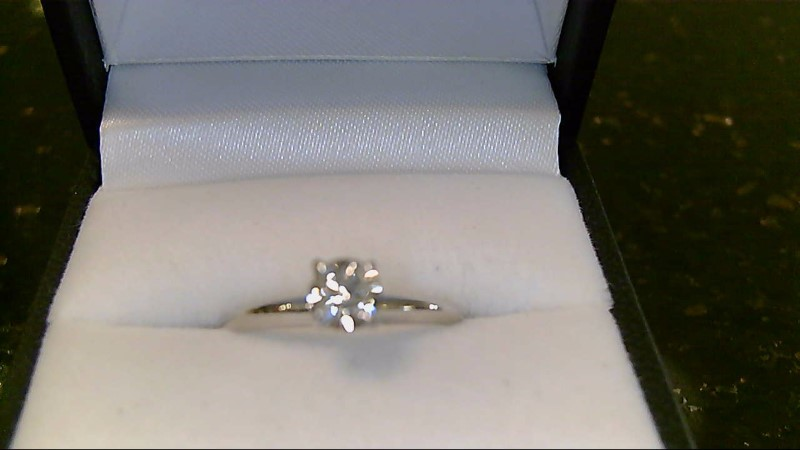 Lady's Diamond Engagement Ring .41 CT. 14K White Gold 2g