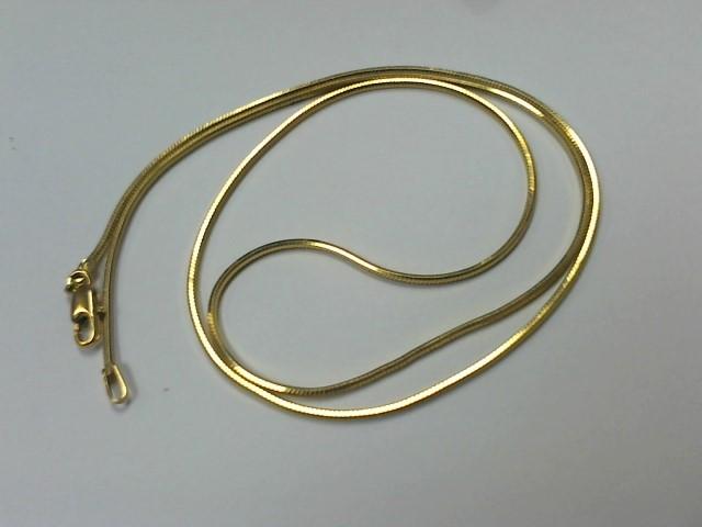 "18"" Gold Snake Chain 14K Yellow Gold 5.2g"