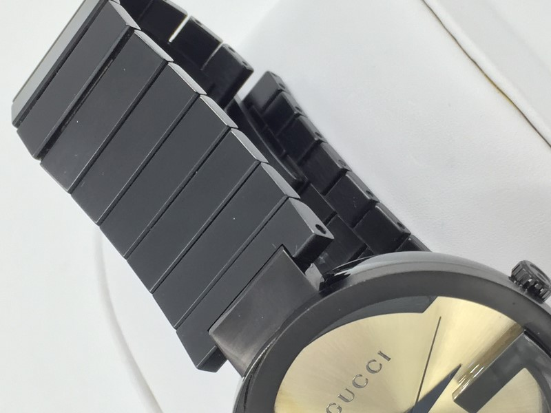 GUCCI GRAMMY XL BLACK PVD STAINLESS STEEL 42MM MENS WATCH - YA133209