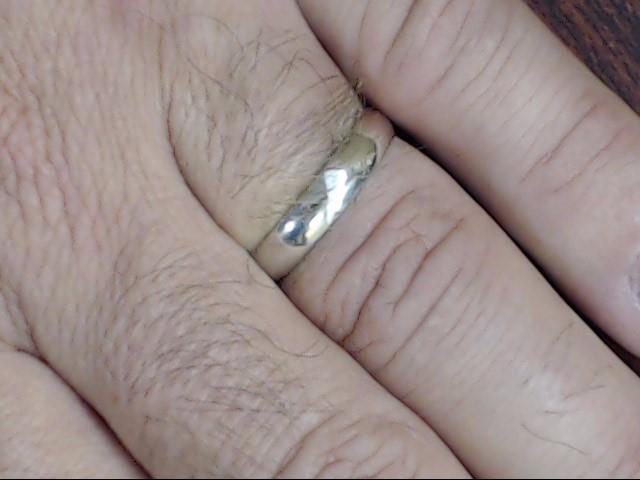 VINTAGE CLASSIC PLAIN WEDDING RING BAND SOLID 14K WHITE GOLD SZ 9.75