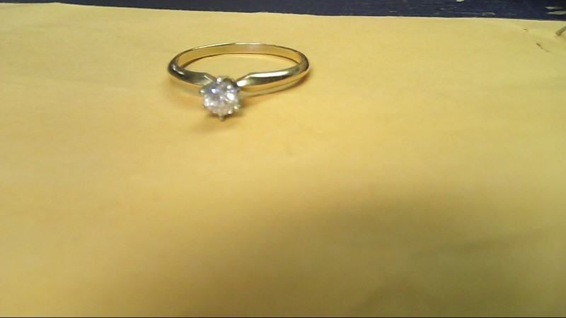 Lady's Diamond Solitaire Ring .20 CT. 14K Yellow Gold 1.5g