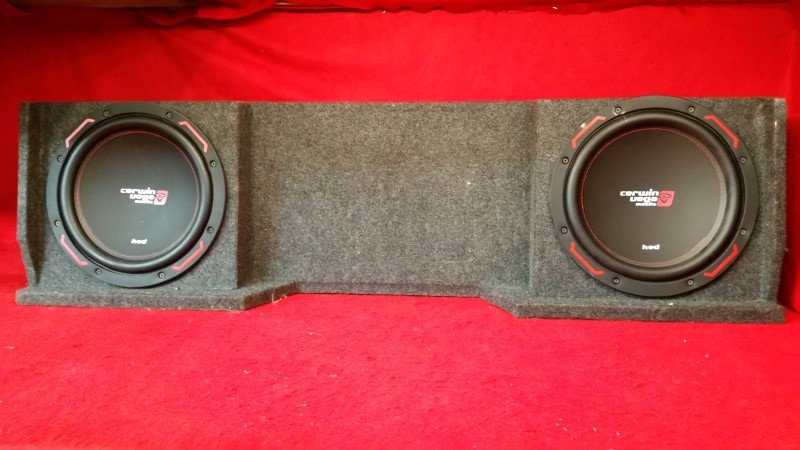 "Cerwin Vega HED 12"" Subwoofers - Pro Installed in Box"