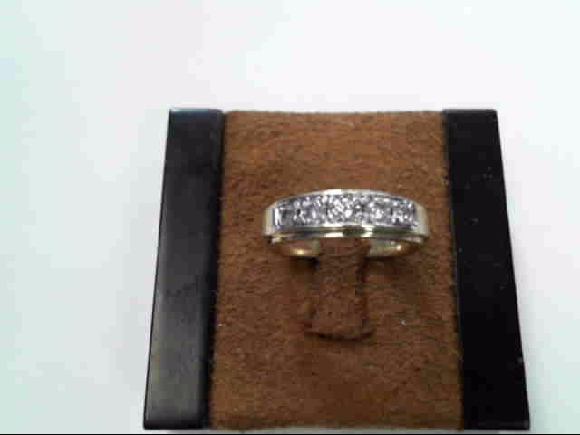 Gent's Diamond Fashion Ring 5 Diamonds .34 Carat T.W. 14K Yellow Gold 5.3dwt