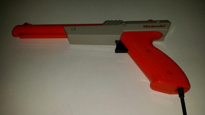 Original NES Nintendo Zapper Gun Controller for Duck Hunt - Orange
