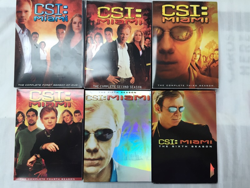 CSI MIAMI SEASONS 1-6, DVD BOX SETS