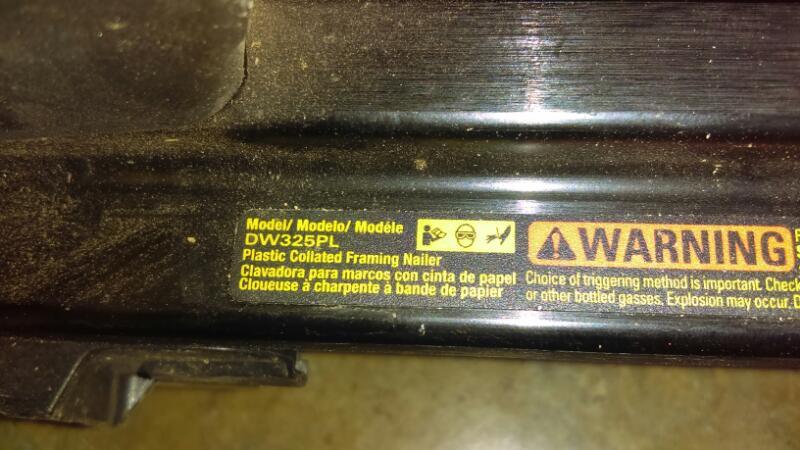 Dewalt DW325pl Plastic Collated Framing Nailer