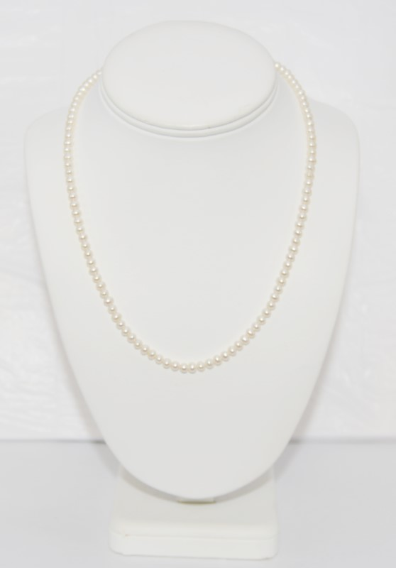 """18"""" Pearl Stone Necklace 10K Yellow Gold 13.5g"""