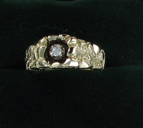 Gent's Diamond Fashion Ring .07 CT. 10K Yellow Gold 3.6dwt