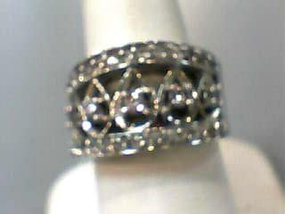 Lady's Diamond Fashion Ring 33 Diamonds .78 Carat T.W. 10K White Gold 5.8dwt