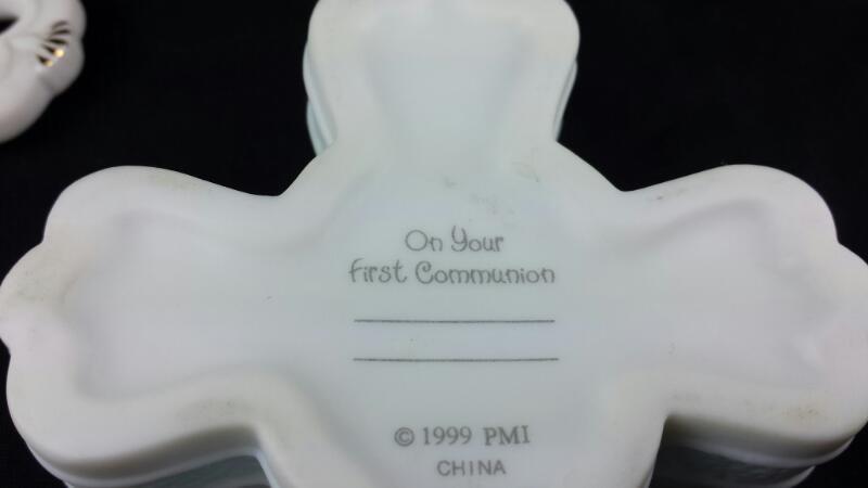 Precious Moments Boy's Confirmation Cross Box