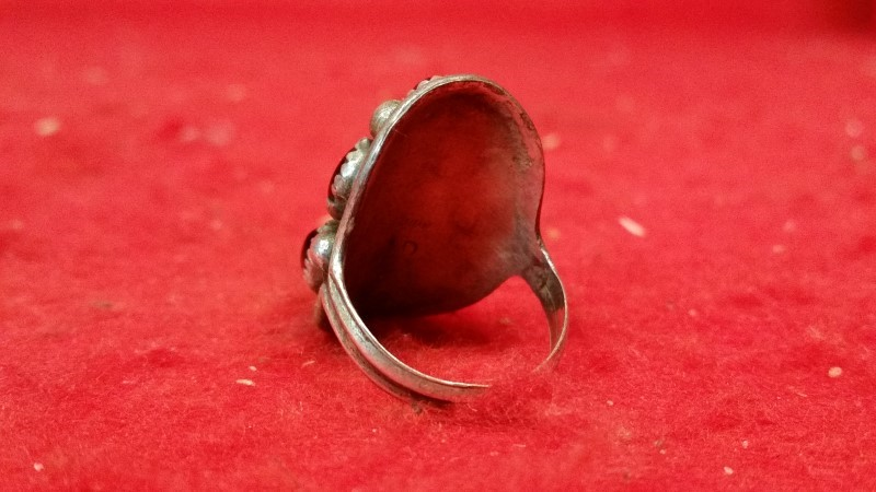 Native American Indian Lady's Silver Ring 925 Silver 9.3g Size:9