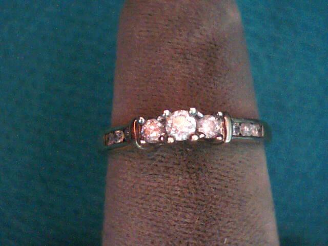 Lady's Gold-Diamond Anniversary Ring 11 Diamonds .27 Carat T.W. 10K Yellow Gold