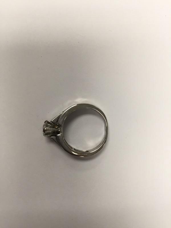 Lady's Diamond Engagement Ring 9 Diamonds 1.37 Carat T.W. 14K White Gold 7g